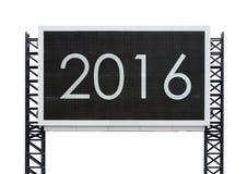 Bonne année 2016 sur le grand panneau de signe Images stock