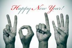 Bonne année 2014 Photo libre de droits
