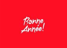 Bonne Annee! Buon anno sul francese illustrazione di stock