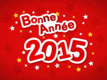 Bonne Annee 2015. Happy New Year 2015 greeting in French language Royalty Free Stock Images