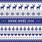 Bonne Annee 2014 - modelo francés de la Feliz Año Nuevo Imagen de archivo libre de regalías