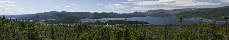 Bonne Bay Panorama Stock Photos