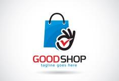 Bonne boutique Logo Template Design Vector, emblème, concept de construction, symbole créatif, icône Photographie stock libre de droits