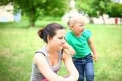 Bonne d'enfants avec un enfant Photo stock