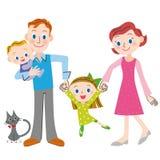 Bonne famille d'ami Images libres de droits