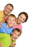 Bonne famille dans lumineux Photographie stock