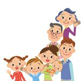 Bonne famille de générations de l'ami trois Images stock