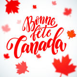 Bonne Fete Canada Day greeting card in French Stock Photography