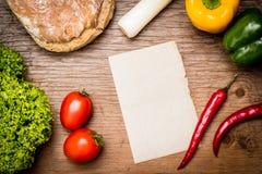 Bonne feuille de papier - cuisson des recettes Photo libre de droits