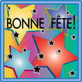 Bonne Fête 3D Stars Illustration Stock Image