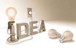 Bonne idée (ampoule) Photographie stock libre de droits