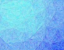 Bonne illustration abstraite de peinture bleue d'impressionniste d'Impasto Beau fond pour votre projet image libre de droits