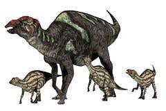 Bonne mère de Maiasaurus illustration stock
