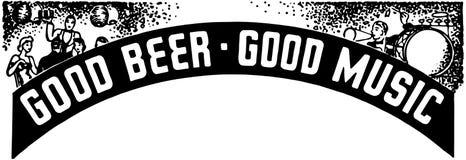 Bonne musique de bonne bière Photographie stock