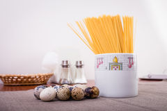 Bonne nourriture présentée sur la table Photo stock