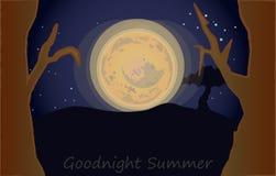 Bonne nuit été Photos stock