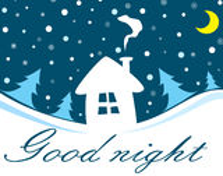 Bonne nuit Photos stock