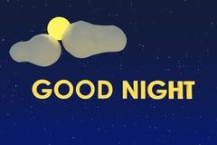 Bonne nuit Images libres de droits