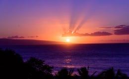 Bonne nuit, Kaanapali Photos libres de droits