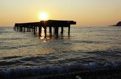 Bonne nuit, le soleil ! photo libre de droits