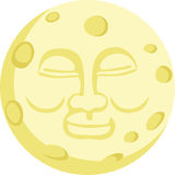 Bonne nuit lune Image libre de droits