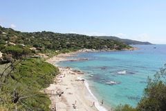 Bonne Terrase Beach on The French Riviera Royalty Free Stock Images
