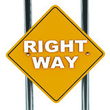 Bonne voie Images libres de droits