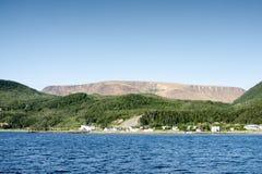 Bonne zatoka, Gros Morne park narodowy, wodołaz I labrador, Zdjęcie Stock