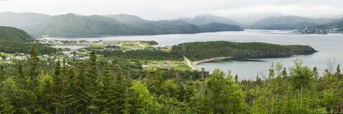 Bonnebaai en Groen Norris Point stock fotografie