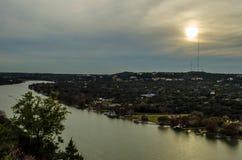 Bonnell del supporto di tramonto a Austin fotografia stock libera da diritti