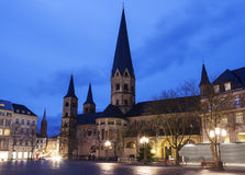 Bonner Munster. At night. Bonn, North Rhine-Westphalia, Germany Stock Photos