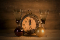 2017 bonnes années avec l'horloge Image libre de droits