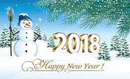 2018 bonnes années Horizontal de l'hiver Photographie stock