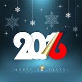 Bonnes fêtes 2016 Image stock