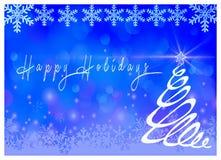 Bonnes fêtes avec le fond bleu illustration de vecteur