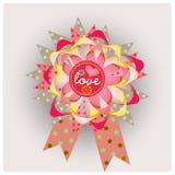 Bonnes fêtes bande de message d'amour Photographie stock
