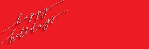 BONNES FÊTES bannière de calligraphie de brosse illustration de vecteur