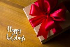 Bonnes fêtes bonne célébrité heureuse de carte de voeux de salutation gaie Photos libres de droits