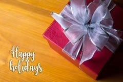 Bonnes fêtes bonne célébrité heureuse de carte de voeux de salutation gaie Photo stock