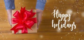 Bonnes fêtes bonne célébrité heureuse de carte de voeux de salutation gaie Photos stock