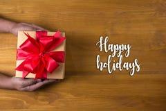 Bonnes fêtes bonne célébrité heureuse de carte de voeux de salutation gaie Images libres de droits