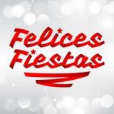 Bonnes fêtes - bonnes fêtes texte espagnol Photographie stock libre de droits