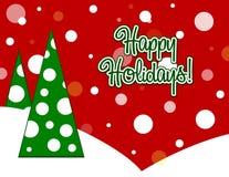 Bonnes fêtes carte Image libre de droits