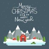 Bonnes fêtes carte de voeux Images libres de droits