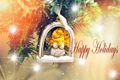 Bonnes fêtes conception de fond pour votre carte de voeux, insectes, invitation, affiches, brochure, bannières, calendrier Photo stock