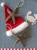 Bonnes fêtes du concept de salutation de saison de Noël de plage Photo libre de droits