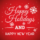Bonnes fêtes et carte de Joyeux Noël Photographie stock