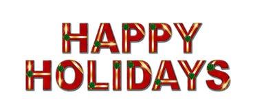 Bonnes fêtes fond des textes de cadeau Photographie stock libre de droits