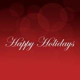 Bonnes fêtes fond rouge Photographie stock libre de droits