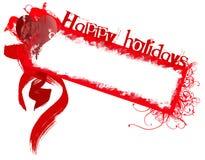Bonnes fêtes insigne grunge Images libres de droits